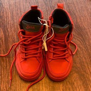 Zara red sneakers. Brand new